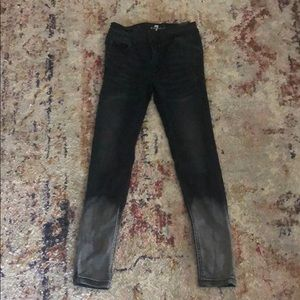 Girls size 8 black 7 for All Mankind jeans